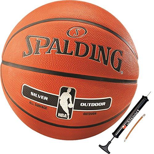 Spalding Basketball + Ballpumpe Kinder NBA Outdoor Größe 5