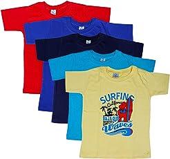 Knitvey Boys Combo Tshirt Pack of 5