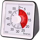 7.8CM Silent Visual Timer Kids 60 Minute Countdown Clock Optional Alarm (3S/60S) Loud/Low Soud for Kid Teacher Classroom Meet