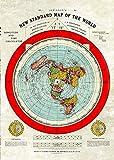 flache Erde Karte -Flat Earth Map - Gleason's New Standard Map Of The World - Large A0 46.8