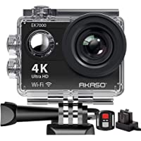 Action Cam,AKASO 4K WiFi Action Kamera/Unterwasserkamera 170°Ultra Weitwinkel Full HD Sports Kamera mit 12MP 2 Zoll LCD…