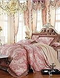 ZQ yuxin®tencel Gewebe modal-Satin-Jacquard Bettwäsche Hochzeit Suite 4 Stück 1.5m-1.8m / 2.0m Bett Bettwäsche-Set , king