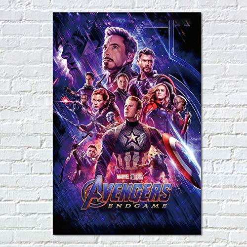 mmbj Endgame Poster Movie Prints Superhelden Film Marvel Leinwand Kunst Home Room Wall Decor Captain America Bilder 40x60cm (Marvel Home Decor)