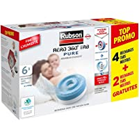 Rubson AÉRO 360° TAB Pure, 6 recharges tabs neutres anti-humidité & anti-odeurs pour déshumidificateur Rubson…