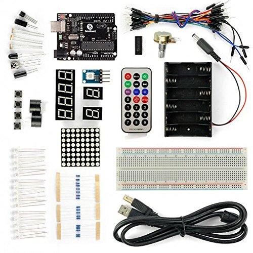 Frog Studio Home SainSmart Basic UNO R3 Starter Kit, Breadboard, Remot