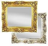 XXL Wandspiegel Antik / Barock Spiegel Gold 75x85 cm mit Facettenschliff, Vintage Antik Rahmen Look Handarbeit Massiv