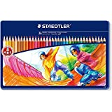 Staedtler Noris Club 145 SPM36 Colouring Pencils in Sport Design Tin - Assorted Colours (Pack of 36)