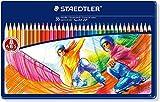 Staedtler Buntstifte Noris Club, erhöhte Bruchfestigkeit, sechskant, Set mit 36 brillanten Farben, ABS-System, kindgerecht nach DIN EN71, umweltfreundliches PEFC-Holz, Made in Germany, 145 SPM36