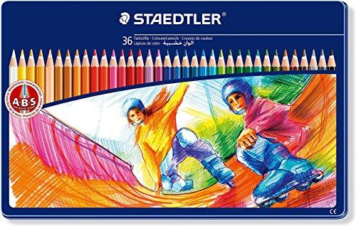 Preisvergleich Produktbild Staedtler Buntstifte Noris Club, erhöhte Bruchfestigkeit, sechskant, Set mit 36 brillanten Farben, ABS-System, kindgerecht nach DIN EN71, umweltfreundliches PEFC-Holz, Made in Germany, 145 SPM36