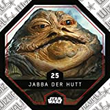 Rewe STAR WARS Cosmic Shells Normal 25 Jabba der Hutt + WIZUALS STICKER