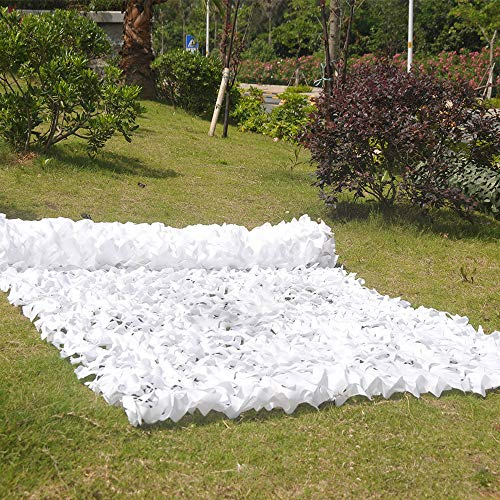 Camouflage net YXLZ Tarnnetz/WeißEs Tarnnetz 1,5 * 4 M / 2 * 3 M/JagdschießEn, Verstecktes Netz/Outdoor-Party-Dekorationsnetz/Schatten/Langlebig
