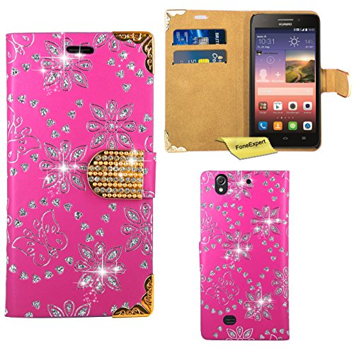 huawei-ascend-g620s-case-foneexpert-bling-luxury-diamond-leather-wallet-book-kickstand-bag-case-cove