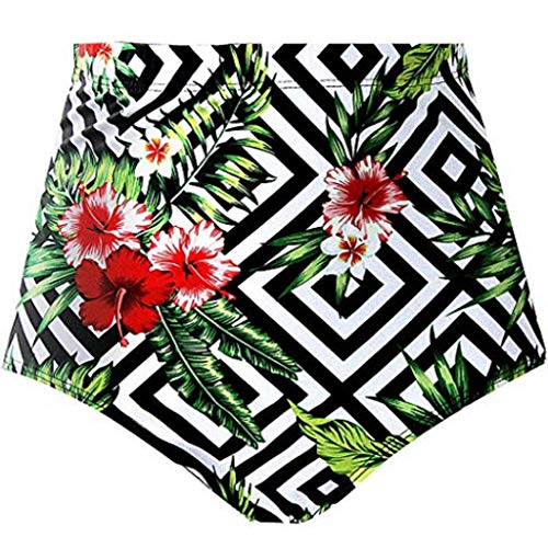Cooljun Frauen Athletic Training Badeanzug Badebekleidung Badeanzug Frauen Sexy Leaf Print Hohe Taille Strand Bikini Badebekleidung Kurze Badehose