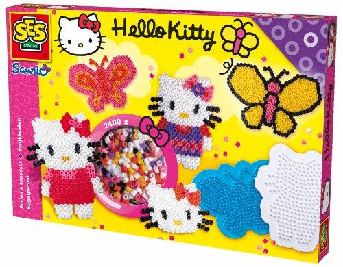 Ses - 14752 - Loisir Créatif - Perles à Repasser Hello Kitty - 2400 Perles