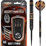 Winmau Scott Waites 90% tungsteno, punta de acero-Onyx Negro-25G-incluye dardos esquina bolígrafo con curvas