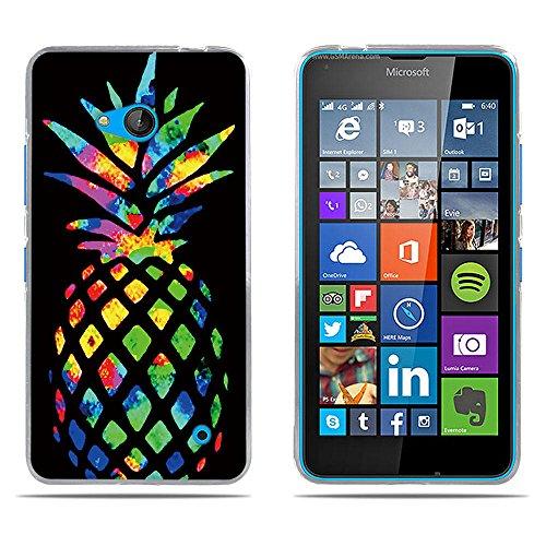 DIKAS Nokia Microsoft Lumia 640 Hülle, Transparente Soft Crystal Clear Ultra Handyhülle Gel Flex Handycover Stoßfest Durchsichtige Silikonhülle Schale Rückseite für Nokia Microsoft Lumia 640- Pic: 09
