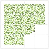 FoLIESEN Fliesenaufkleber für Bad und Küche | 15x15 cm | Fliesenbild Asia Bamboori | 16 Fliesensticker für Wandfliesen