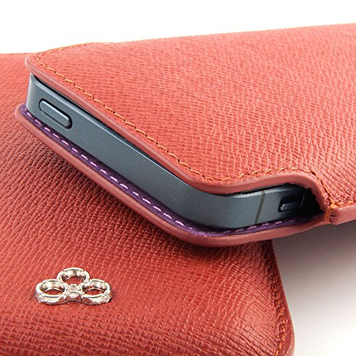 QUADOCTA custodia in pelle cover per case No. 5 per iPhone Apple 6 6s 4,7 pollici Tabacco in vera pelle. Sottile custodia in pelle, elegante accessorio per l'iPhone 6 6s (4,7) Apple originale - Brick Red