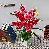 LSRHT Künstliche Blumen Dekoration Orchidee Homeliving Zimmer Topfpflanzen Silk Blume