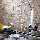 Good quality Antiquitäten Becken Spül Mischer Tap Spülbecken Wasserhahn Kupfer Quadrat Flachrohr Küche heißes und Kaltes Wasser Mixer Kreative Wasserhahn