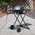Fire Mountain Portable Electric Barbecue - 1600W, Cast Aluminium Griddle, Hot Plate, Removable Stand, Central Drip Channel, Side Shelves - Use Indoors or Outdoors! by Fire Mountain