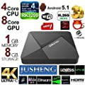 JUSHENG DOLAMEE D5 Android 5.1 TV Box 1G/8G RK3229 Quad Core CPU 16.0 Fully Loaded TV Box 4K Dual Band Streaming Media Player