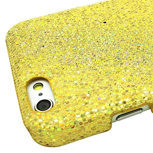 Phone case & Hülle Für iPhone 6 Plus & 6S Plus, Shimmering Powder Galvanisieren Kunststoff Hard Case ( Color : Yellow ) Yellow