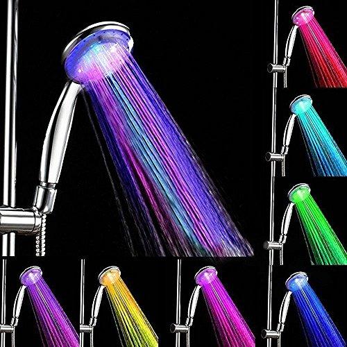 Badezimmer Duschkopf angeer LED Multicolor 7Farben Wasser Glow Licht Dusche Kopf