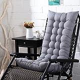 Nibesser Stuhlauflagen Stuhlkissen Dekokissen Sitzkissen und Rückenkissen Garden Auflage zu Klappsessel (110cmx40cm, Grau)