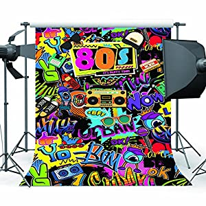 sesiones fotográficas familiares: Mehofoto Fondo de Hip Hop 5x7ft Vinilo de los 80 Tema de los 80 Decoración de fi...