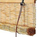 WENZHE Bambusrollo Fenster Sichtschutz Rollos Holzrollo Bambus Raffrollo Schilf Stroh Heben Schattierung Atmungsaktiv Wasserdicht Retro, 6 Stile, Größe Anpassbar (Farbe : 2#, Größe : 100x200cm)