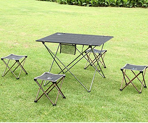61vIcN5EFAL - Portable Folding Camping Chair - Kingwo Outdoor Folding Aluminum Chair Stool Seat Children Chair for Aotu Fishing…