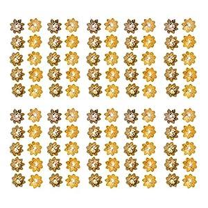 100 Stücke Blumen Bead Perlenkappen Schmuckzubehör Armband Zubehör für Schmuck Herstellung