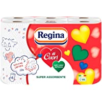 Regina di Cuori Carta Cucina | Confezione da 6 Rotoli | 50 fogli per rotolo* | Grande Assorbenza, Spessa e Resistente…