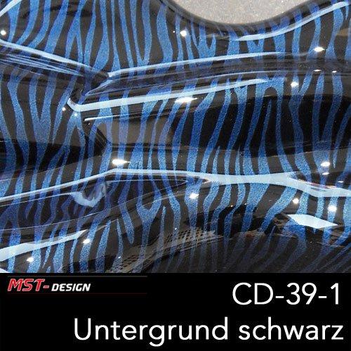 MST-Design Wassertransferdruck Folie I Starter Set Klein I WTD Folie + Dippdivator/Aktivator + Zubehör I 4 Meter mit 50 cm Breite I Zebra Tier Perlmutt I CD-39-1