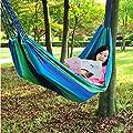 Zheng Hui Shop Hängematten Blaues Grün-im Freien Segeltuch-Hängematte-Innengurt einzelnes Schwingen 79 * 31 Zoll, die 90kg tragen von Zheng Hui Shop - Gartenmöbel von Du und Dein Garten