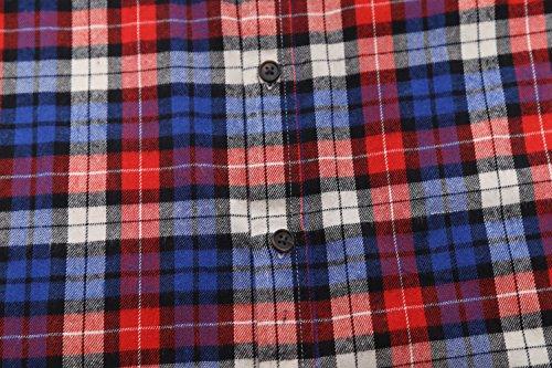 SOOPO Herren Ärmellose Kariert Flanell Hemden Freizeithemd aus Baumwolle Sleeveless T-Shirt blau&rot