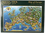 Falcon de Luxe - Map of Europe Jigsaw Puzzle (1500 Pieces)