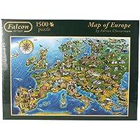 Falcon de Luxe - Map of Europe Jigsaw Puzzle (1500 Pieces)