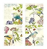 Starke Wandhaken Nahtlose klebrige Haken Küche Saugnapf Kleiderbügel Vögel und Blumen