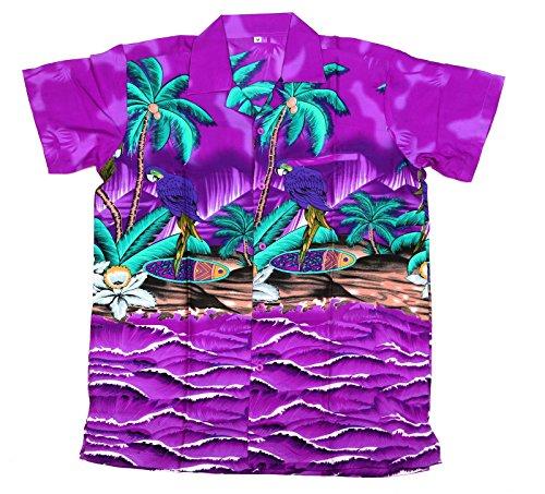 79bb787d4 SAITARK Mens Hawaiian Shirt Stag Beach Hawaii Aloha Party Summer Holiday  Fancy Parrot (XS,