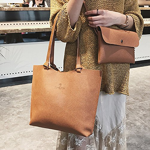 sundatebe, Borsa tote donna Dark Gray taglia unica Light Brown