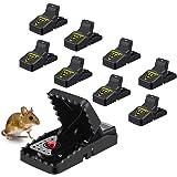 MOHOO 8PCS Piège à Souris Piège à Rat Réutilisable Tapette à Rat Efficace Piège à Souris Piège à Rats avec Puissant et…