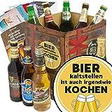 Bier kalt stellen ist auch irgendwie kochen | Geschenkset Bier mit Bieren der Welt | Bier Geschenk Box mit Bieren der Welt INKL | 6x Geschenk Karten für jeden Anlass + 1x Bier - Bewertungsbogen + 3 Urkunden | Individuelle Geschenk-Box - Bier mit Bieren der Welt kalt stellen ist auch irgendwie kochen | Bier Geschenke Männer Geschenkidee Bier Bier Geschenke Männer Männer Geburtstag Geschenke Männer Geschenkidee Bier