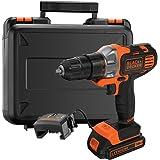 BLACK+DECKER MT218K-GB 18V 10mm Li-ion Cordless Multi-Evo Multitool Starter Kit with Drill Driver Head (Orange)