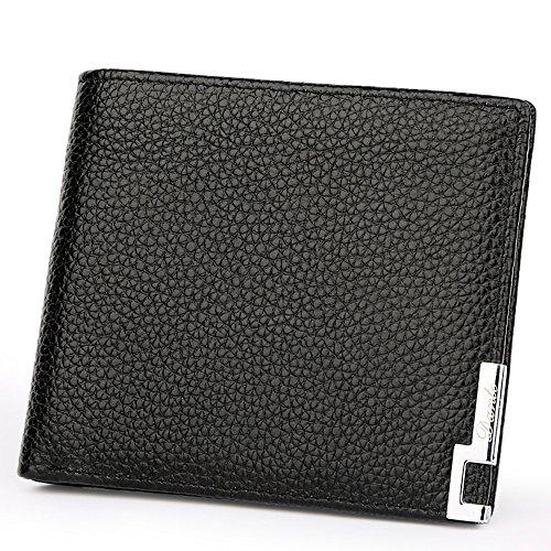 Dante Herren Wallet Slim echtem Leder Portemonnaie Geldbörse Geldbeutel Mit Geschenkbox schwarz