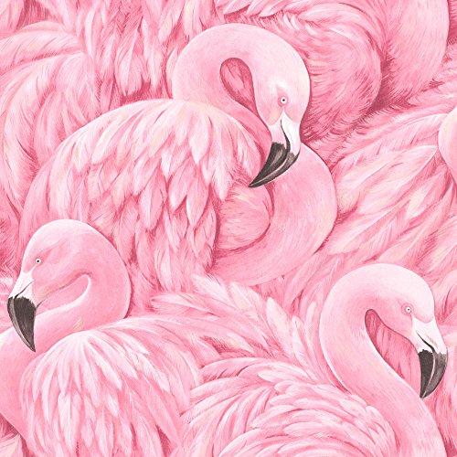 rasch Tapete 803211 aus der Kollektion Lucy in the Sky - Vliestapete in Pink mit Flamingo-Design - 10,05m x 53cm (L x B) (Schmücken Zu Küche Die Ideen)