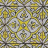 Orientalische Keramik Fliesen handbemalte marokkanische Motiv Fliese 10 x 10 cm Soumiya