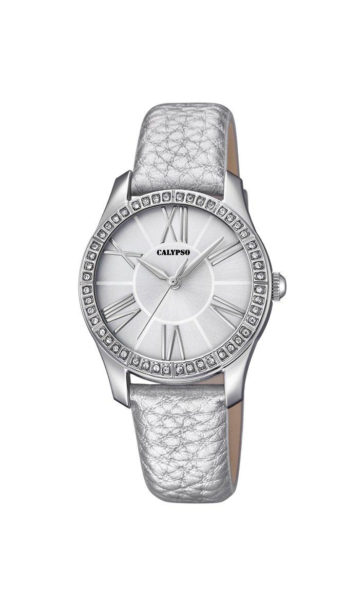 Calypso Reloj Análogo clásico para Mujer de Cuarzo con Correa en Cuero K5719/1