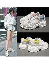 QQWWEERRTT Zapatos Deportivos de Malla de Moda Verano Femenino nuevos Zapatos Casuales Salvajes Transpirable Zapatos...